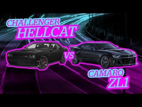 Camaro ZL1 vs Challenger Hellcat ¿A cuál le vas?