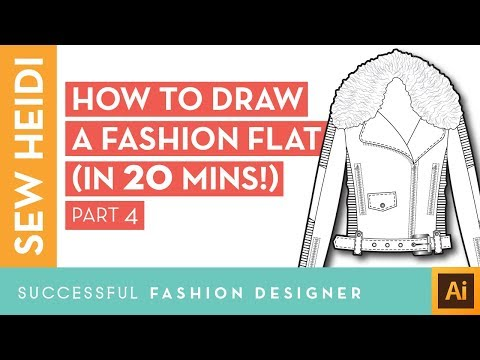 Illustrator Fashion Design Tutorial: How to Draw a Fashion Flat in 20 Mins (Part 4)