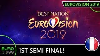 DESTINATION EUROVISION 2019: SEMI FINAL 1 RESULTS (LIVE REACTION)   France Eurovision 2019