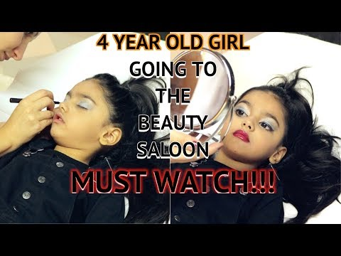 4 Year Old Girl Going To The Beauty Salon | makeup + nails | AIMALIFESTYLE