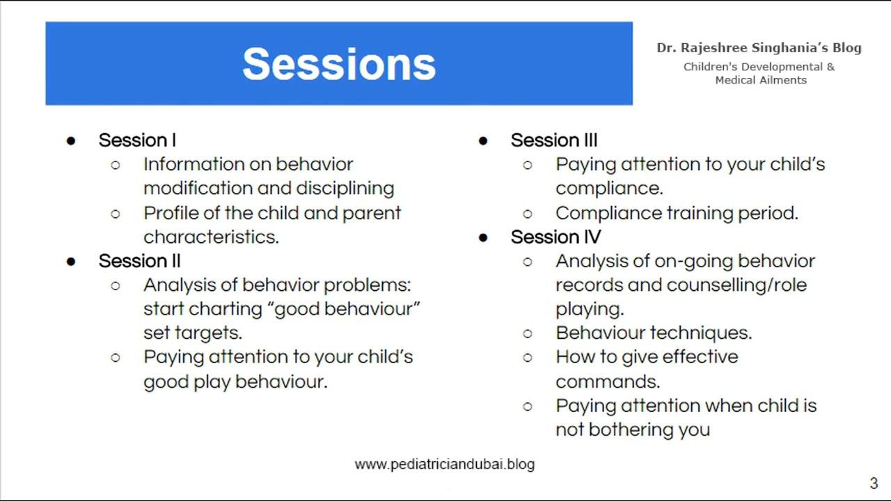 7 Sessions To Modify Behaviour | Pediatrician Dubai | Always Putting