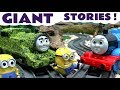 Thomas And Friends Minions Funny Games Peppa Pig Tom Moss Toy Train Play Doh Surprise Eggs