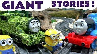 Thomas The Tank Engine Minions Funny Pranks Peppa Pig Tom Moss Toy Train Play Doh Surprise Eggs