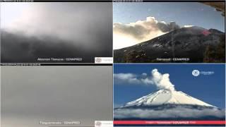 Popocatepetl - 20160106 - 04:55 a 10:35 hrs