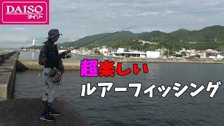 【ルアー入門】ダイソーで釣具全部揃えてお手軽ルアーフィッシング