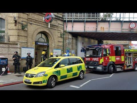Explosion on London Underground train