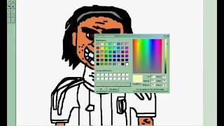 How to draw Carlos Tévez - MS Speed Painting