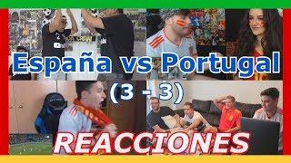 Reacciones: España vs Portugal (3 - 3) | Mundial Rusia 2018 | Recopilación
