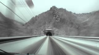 冬の国道13号 雪深き東北の旅1