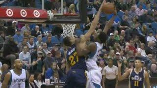Rudy Gobert blocks Andrew Wiggins: Utah Jazz at Minnesota Timberwolves