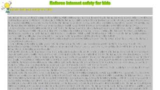 How to : Enforce internet safety for kids