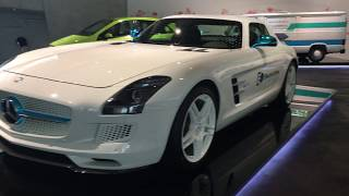 ドイツ・シュツットガルト・メルセデスベンツ博物館⑩ベンツSLS Electric Drive!Mercedes-Benz museum,Stuttagart ,Germany