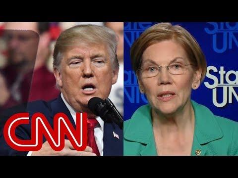 Warren slams Trump's 'Pocahontas' nickname as 'racial slur'