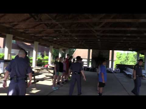Drill Instructors Welcome Students to Youth Academy