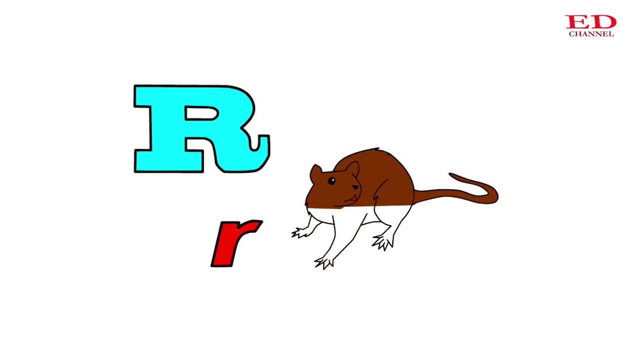 Learn Letter R For Kids Rat Coloring Pages