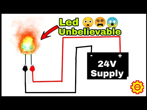 1.5 Volts L.E.D VS 24 volts supply | what happens? when 1.5V L.E.D is connected to 24 volts Supply.