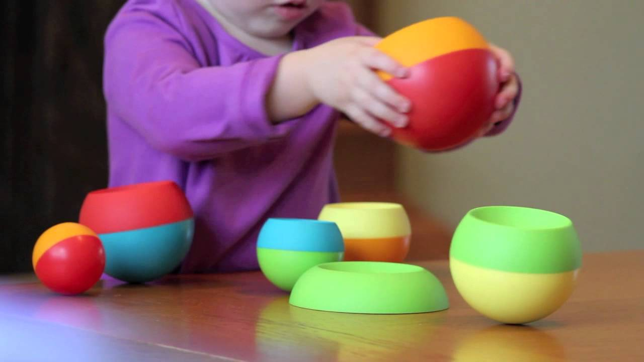 Toys For Fat : Tobbles stacking toy by fat brain co youtube