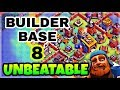 UNBEATABLE BUILDER HALL 8 BASE LAYOUT WITH REPLAY | BEST BUILDER BASE 8 IN COC | CLASH OF CLANS