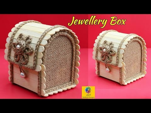 DIY Jewellery Box made from Jute Rope and Popsicle Sticks | Jute Jewellery Box | Pop Stick Crafts