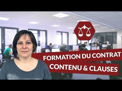 La formation du contrat : contenu, clauses générales et particulières - STMG Droit - digiSchool