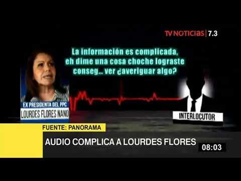 """Lourdes Flores asegura que en audio no existe """"ninguna inconducta"""""""
