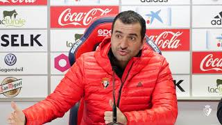 Diego Martínez. Previa Osasuna-Zaragoza