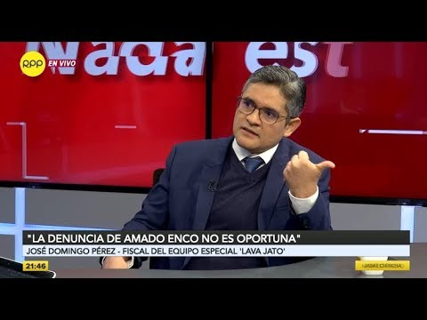 """Domingo Pérez sobre la denuncia de Amado Enco a Jorge Ramírez: """"Ha tenido una actuación infeliz"""""""