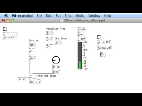 PURE DATA: 21 Beginning FM Synthesis