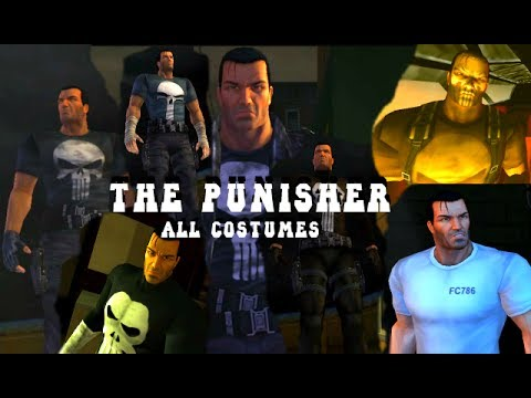 The Punisher: Video Game (PC) - All Costumes - Gameplay