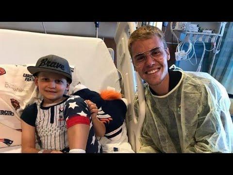 Justin Bieber Sorprende a Niños en Hospital