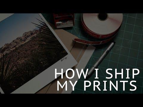 How I Ship My Prints!