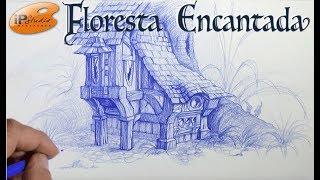 Floresta Encantada - Criando uma casinha de gnomo - Curso de desenho online da IPStudio