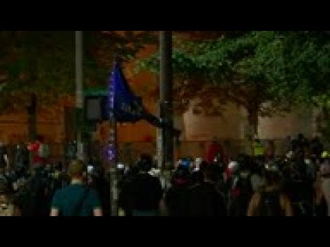 Tear Gas Used Against Portland Protesters