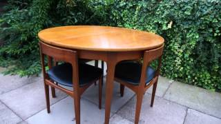 1960s Vintage Retro Extending Teak Table And Chairs Set Mid Century Item 290988659284