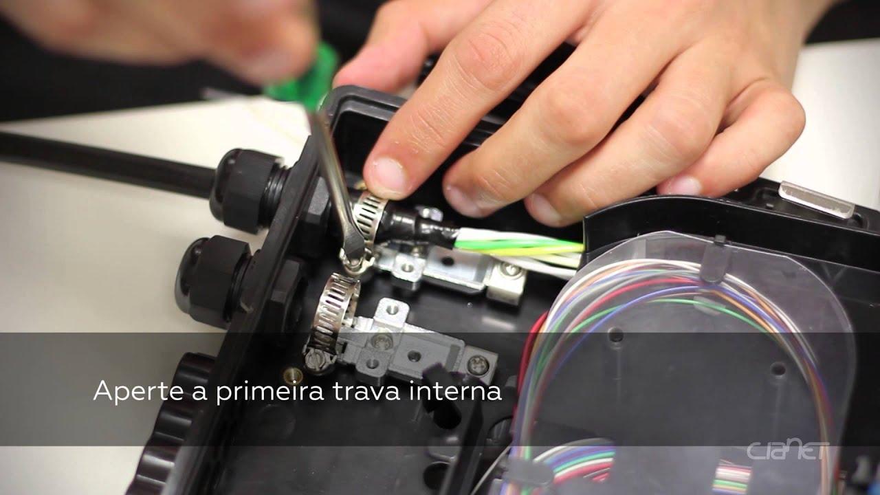 d4728fc41dcb0 Montagem Caixa de Terminação Óptica - CTO 0216 - YouTube