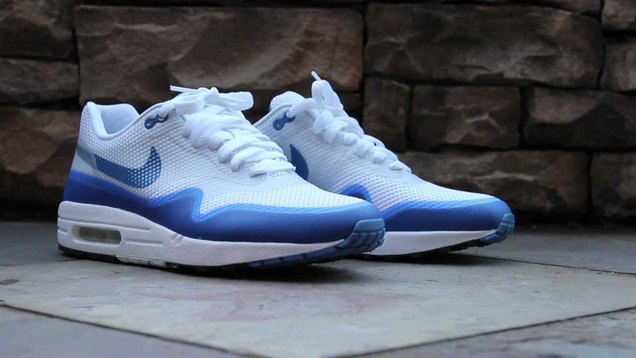 new arrivals bb203 5a9be Review  Nike Air Max 1 Hyperfuse - Varsity Blue - YouTube