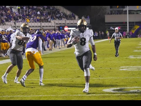 2018 American Football Highlights - #10 UCF 37,  ECU 10