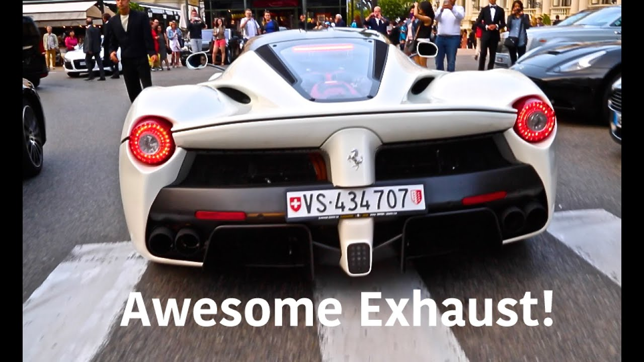 Stunning Ferrari Laferrari Awesome Exhaust And Startup In Monaco