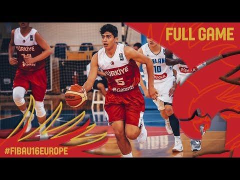 Finland v Turkey - Full Game - FIBA U16 European Championship 2017