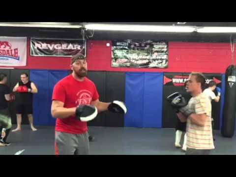 Striking lesson at SSF MMA Clarksville TN