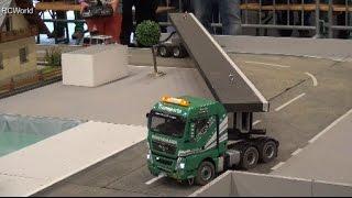 MAN Heavy Duty Truck RC Schwerlasttransport LKW ♦ Modellbaumesse Wels 2016 Modellbau