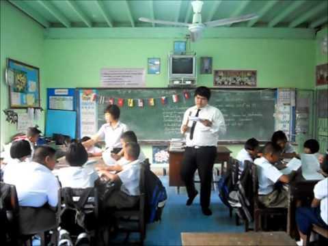 การสอนเรียงความเรื่องธงชาติอาเซียน