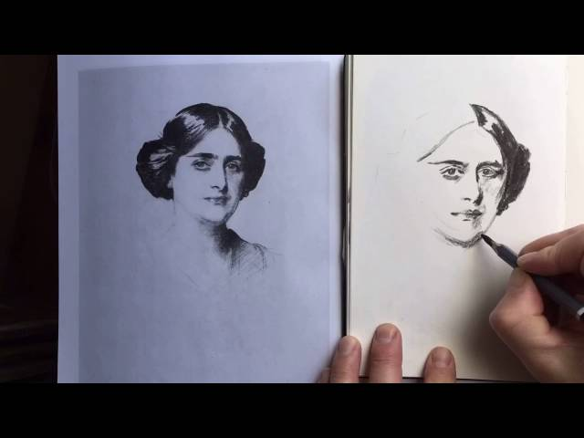 Time Lapse drawing of John Singer Sargent Portrait