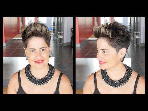 Womens Haircut Tutorial Pompadour Pixie Thesalonguy Youtube