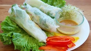 DIY: DELICIOUS VEGETABLE SALAD ROLLS! Thumbnail