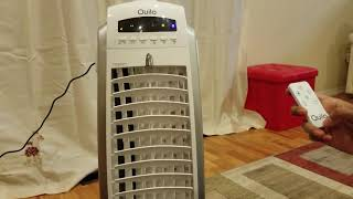 Quilo Refresh 4in1 Quiet Energy Efficient Portable Tower Fan with Cooler & Humidifier, QE1SWS