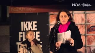 NOAHs Fakkeltog mot pels 2014: Margreth og Milla Olin