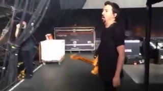 Shihad opening for ACDC, On stage Cam