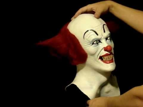 Pennywise Clown Killer Latex Halloween Mask Youtube