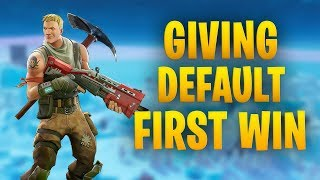 Fortnite Gameplay | Giving a Default his first WIN in a Season 7 Gameplay| Gokuuu TV